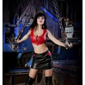 Sukně černá s červenými kapsami