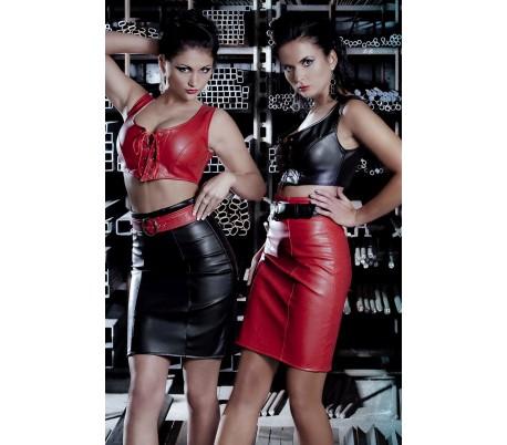 Sukně s vysokým pasem červená