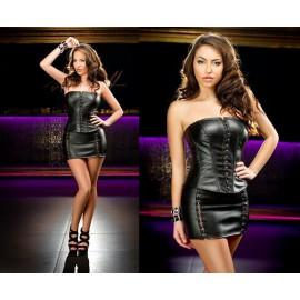 Mini sukně s korzetovým zapínáním