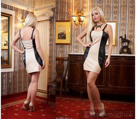 Sexy mini šaty rovný střih