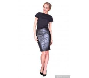 Elegantní sukně z umělé kůže