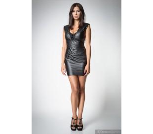 Luxusní mini šaty s hlubokým výstřihem a šněrováním