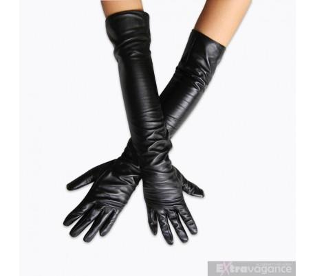 sexy rukavice z umele kůže 40cm a 50cm